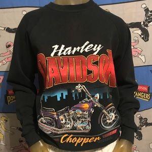1988 Vintage Harley-Davidson Motorcycle Sweatshirt